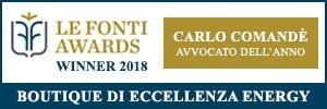 le fonti awards 2018 carlo comande avvocato dell anno2