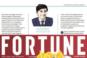 Antonino Restuccia founding partner di CDRA intervistato da Fortune sulla evoluzione della professione forense