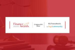 CDRA ancora protagonista dell'evento Finance Awards 2019 organizzato da Legalcommunity