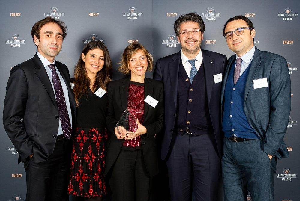 Energy Awards 2019 organizzati da Legalcommunity, lo Studio CDRA si è aggiudicato il premio Rosella Antonucci