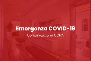 Comunicazione CDRA - Emergenza COVID-19