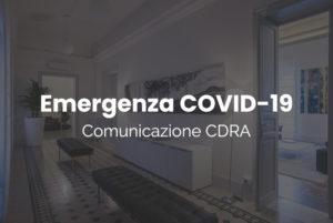 Comunicazione CDRA – Emergenza COVID-19